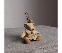 Teddybär-Anhänger mit Trenchcoat