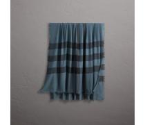 Schal aus Modal und Wolle mit Karomuster