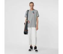 T-Shirt aus Baumwolljersey mit Verzierung
