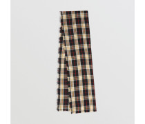 Leichter Kaschmirschal in Vintage Check