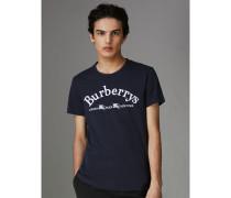 T-Shirt aus Baumwolle mit Vintage-Logo