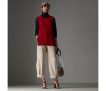 Hose aus Stretchbaumwolle mit kürzerer Beinpartie