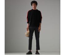 Pullover aus Wolle und Kaschmir mit Streifendetail