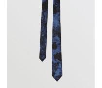 Schmale Krawatte aus Woll- und Seidenjacquard
