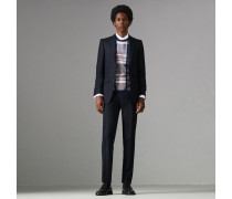 Körperbetonter Anzug aus Birdseye-Wolle
