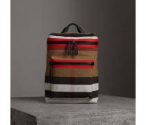 Rucksack aus Canvas Check-Gewebe