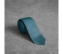 Schmale Krawatte aus Seidenjacquard