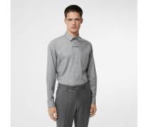Baumwollhemd mit Monogrammknopf