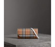 Brieftasche aus Vintage Check-Leder