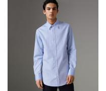Oxford-Hemd aus Baumwolle mit Stickdetail