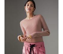 Pullover aus Kaschmir und Seide in Rippstrick