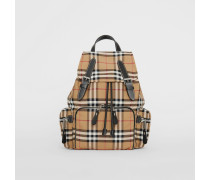 The Medium Rucksack aus Nylon im Vintage Check-Design