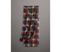 Schal aus Wolle mit Punkt- und Schottenmuster
