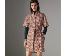 Hemdkleid aus Baumwolle mit Vintage-Kachelmuster