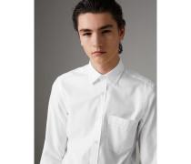 Oxford-Hemd aus Baumwolle mit Lochmusterdetail