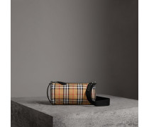 The Small Barrel Bag aus Vintage Check-Gewebe und Leder
