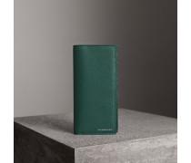 Brieftasche im Kontinentalformat aus genarbtem Leder