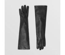 Lange Handschuhe aus Lammleder mit Seidenfutter
