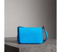 Kleine Messenger-Tasche aus Leder in Neonoptik