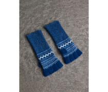 Fingerlose Handschuhe aus Kaschmir im Fair Isle-Design