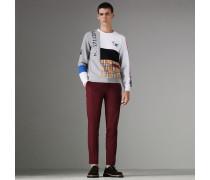 Sweatshirt aus Baumwolle in Paneloptik