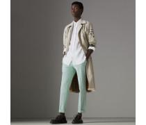 Körperbetonte Hose aus Baumwolle mit Vichy-Muster