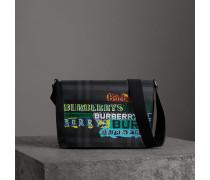 Große Messenger-Tasche mit Logo-Motiv