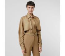 Oversize-Bluse aus Seide mit Cape-Detail
