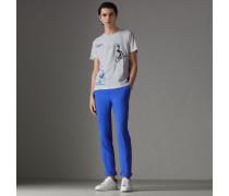 Baumwoll-T-Shirt mit Comic-Motiv