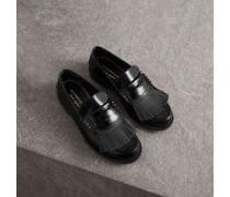 Loafer aus Lackleder mit Kiltie-Fransen