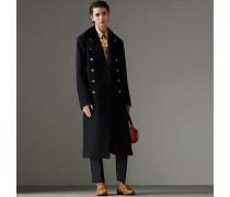 Military-Mantel aus Doeskin-Wolle mit Samtkragen