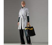 Hemdkleid aus Seide mit Streifenmuster