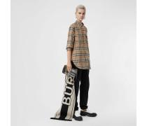 Oversize-Bluse aus Stretchbaumwolle