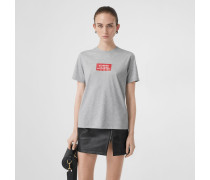 Baumwoll-T-Shirt mit Druckmotiv