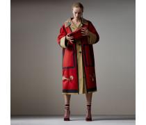Oversize-Kurzmantel aus gebondeter Baumwolle