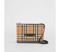 The Small D-Ring Bag aus Vintage Check-Gewebe und Leder