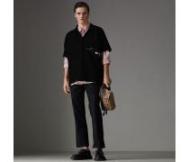 Oversize-Poloshirt mit sportlichen Streifen
