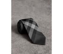 Modern geschnittene Krawatte aus Seidentwill