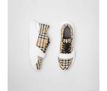 Sportschuhe aus Baumwolle mit Vintage Check-Muster
