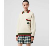 Rippstrick-Pullover aus Wolle und Kaschmir