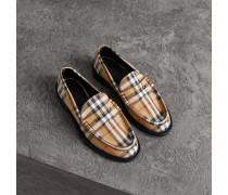 Pennyloafer aus Baumwolle mit Vintage Check-Muster