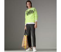 Sweatshirt aus Baumwolle mit Doodle-Motiv