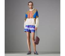 Shorts in sportlichem Design mit Batikmuster