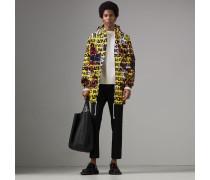 Jacke mit Kapuze und Graffiti-Aufdruck
