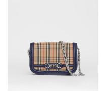 The Link Bag mit Karomuster und Lederbesatz