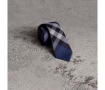 Modern geschnittene Krawatte aus Baumwolle und Kaschmir
