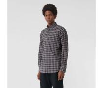 Baumwollhemd mit kleinteiligem Karomuster