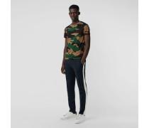 Baumwoll-T-Shirt mit Camouflage-Muster