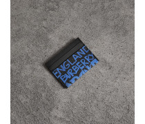 Kartenetui aus Leder mit Graffitimuster