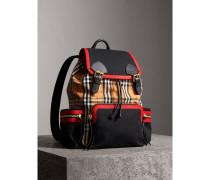 The Large Rucksack aus Vintage Check-Gewebe und Leder